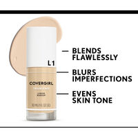 covergirl trublend foundation flawlessly blurs imperfections and evens skin tone
