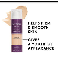 covergirl advanced radiance foundation helps smooth skin for a youthful appearance