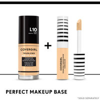 covergirl trublend matte made foundation paired with trublend concealer