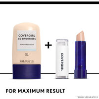 covergirl smoothers foundation paired with smoothers concealer stick